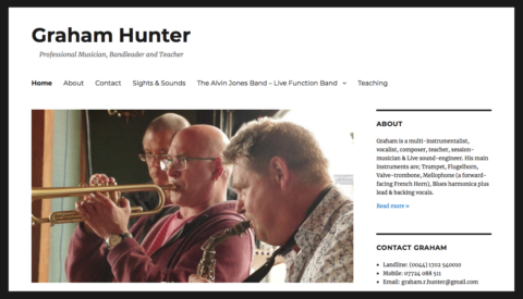Image of Graham Hunter website