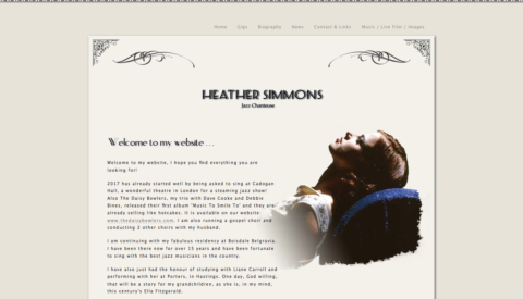 Image of Heather Simmons website