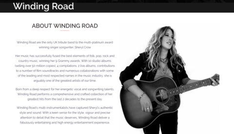 Image of Winding Road website